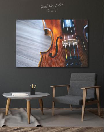 Violin Close Up Photo Canvas Wall Art - image 6