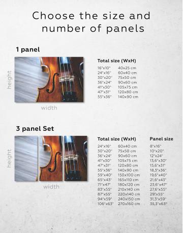 Violin Close Up Photo Canvas Wall Art - image 10