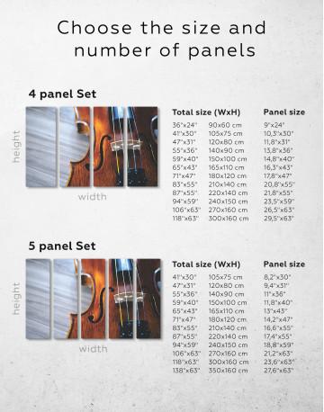 Violin Close Up Photo Canvas Wall Art - image 8
