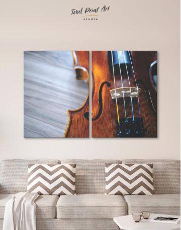 Violin Close Up Photo Canvas Wall Art - image 9