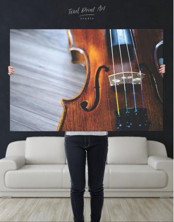 Violin Close Up Photo Canvas Wall Art - image 1