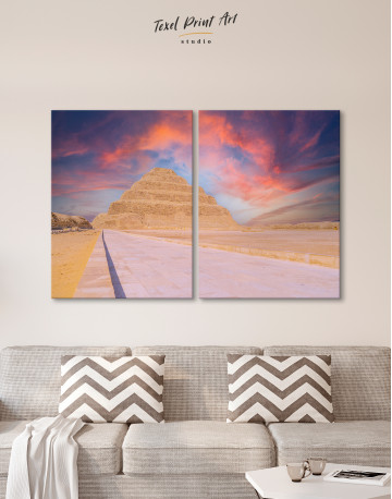 Pyramid of Djoser Canvas Wall Art - image 1