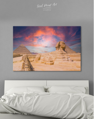 Great Sphinx of Giza at Sunset Canvas Wall Art