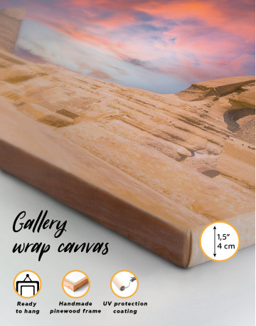 Great Sphinx of Giza at Sunset Canvas Wall Art - image 2