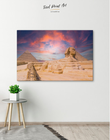 Great Sphinx of Giza at Sunset Canvas Wall Art - image 4