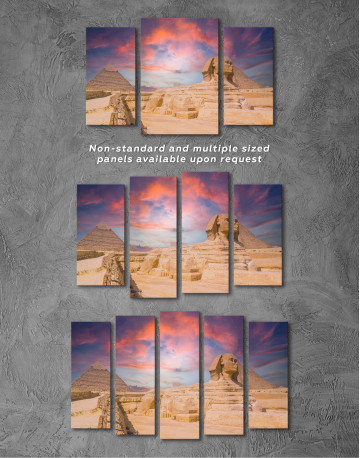 Great Sphinx of Giza at Sunset Canvas Wall Art - image 5