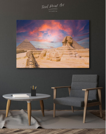 Great Sphinx of Giza at Sunset Canvas Wall Art - image 6