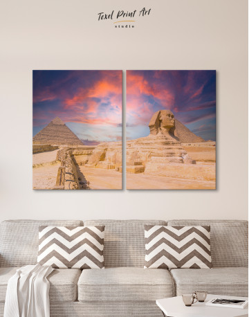 Great Sphinx of Giza at Sunset Canvas Wall Art - image 10