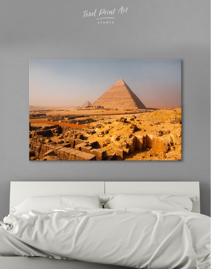 Great Pyramid of Giza Print Canvas Wall Art