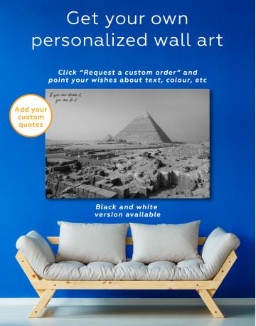 Great Pyramid of Giza Print Canvas Wall Art - image 1