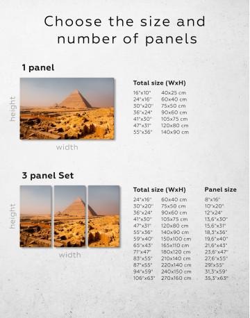Great Pyramid of Giza Print Canvas Wall Art - image 10