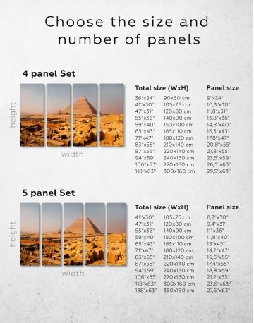 Great Pyramid of Giza Print Canvas Wall Art - image 6