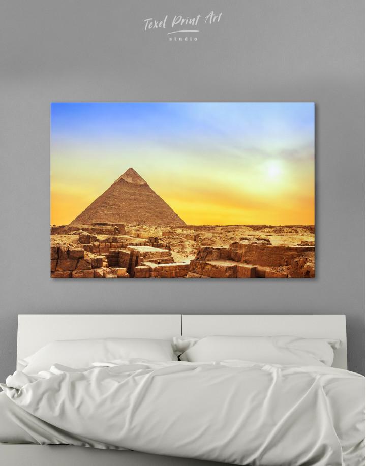 Ancient Giza Pyramid at Sunset Canvas Wall Art