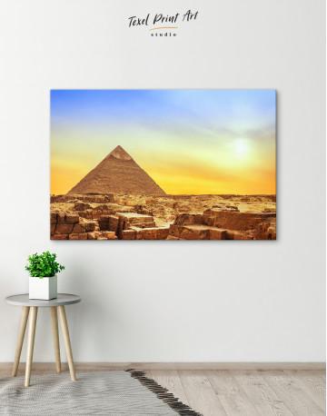 Ancient Giza Pyramid at Sunset Canvas Wall Art - image 5