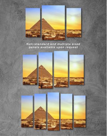 Ancient Giza Pyramid at Sunset Canvas Wall Art - image 4