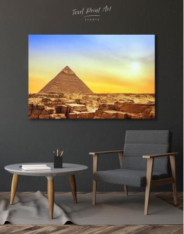 Ancient Giza Pyramid at Sunset Canvas Wall Art - image 3
