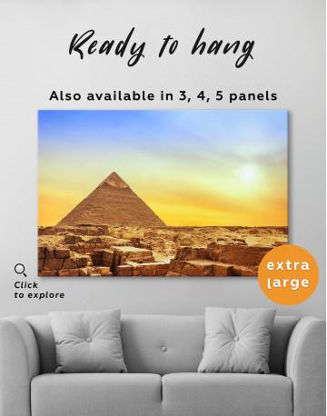 Ancient Giza Pyramid at Sunset Canvas Wall Art - image 1