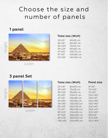 Ancient Giza Pyramid at Sunset Canvas Wall Art - image 10