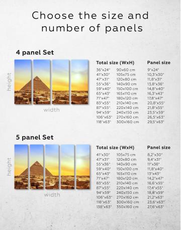 Ancient Giza Pyramid at Sunset Canvas Wall Art - image 2