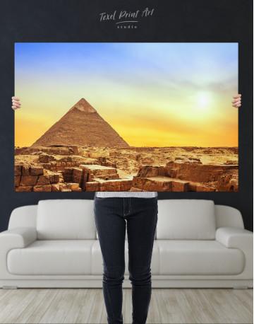 Ancient Giza Pyramid at Sunset Canvas Wall Art - image 8