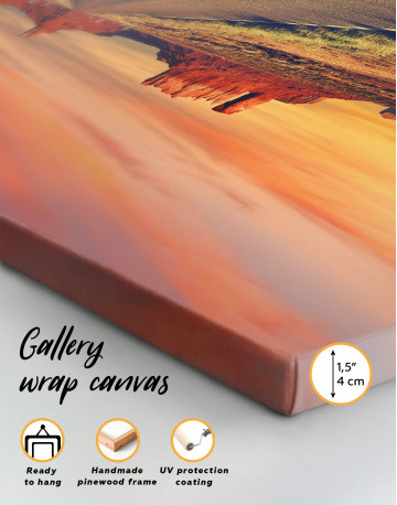 Road to Monument Valley at Sunset Panoramic Canvas Wall Art - image 3