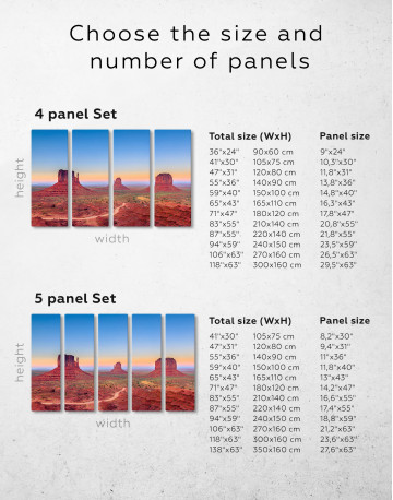 Grand Canyon National Park at Sunset Canvas Wall Art - image 2