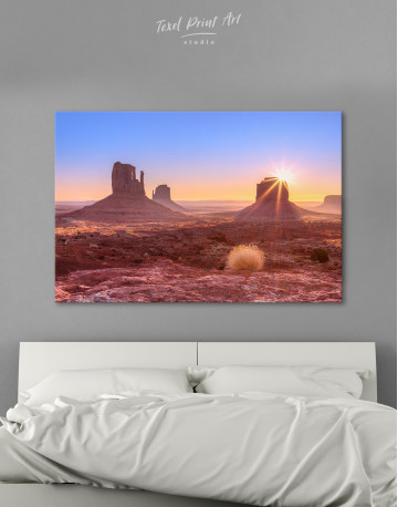 Beautiful Sunrise View of Monument Valley Canvas Wall Art