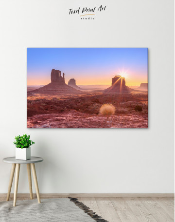 Beautiful Sunrise View of Monument Valley Canvas Wall Art - image 4