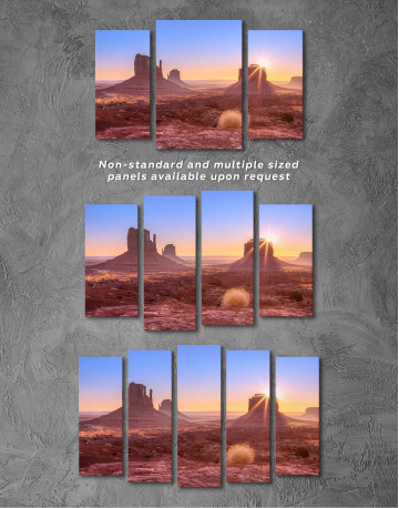 Beautiful Sunrise View of Monument Valley Canvas Wall Art - image 5