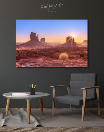Beautiful Sunrise View of Monument Valley Canvas Wall Art - image 6