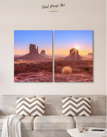 Beautiful Sunrise View of Monument Valley Canvas Wall Art - image 9