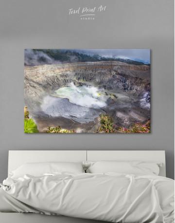 Poas Volcano Crater in Costa Rica Canvas Wall Art