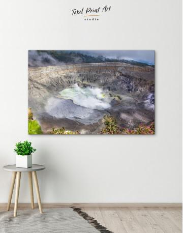 Poas Volcano Crater in Costa Rica Canvas Wall Art - image 6