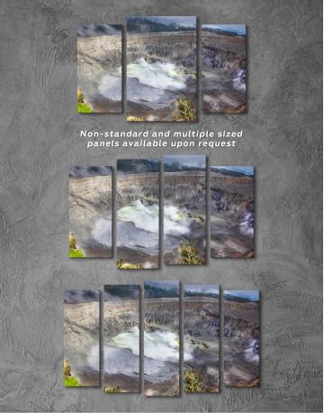Poas Volcano Crater in Costa Rica Canvas Wall Art - image 5