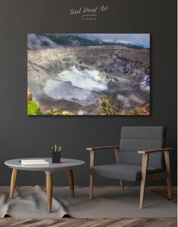 Poas Volcano Crater in Costa Rica Canvas Wall Art - image 4