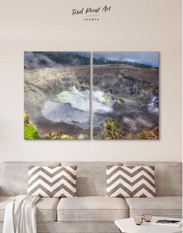 Poas Volcano Crater in Costa Rica Canvas Wall Art - image 1