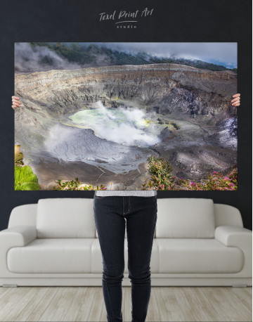 Poas Volcano Crater in Costa Rica Canvas Wall Art - image 9