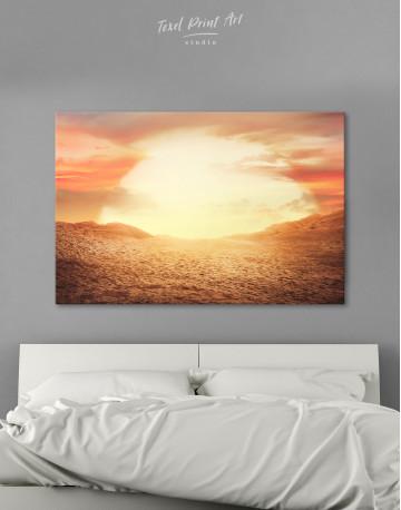 Desert Sun Canvas Wall Art