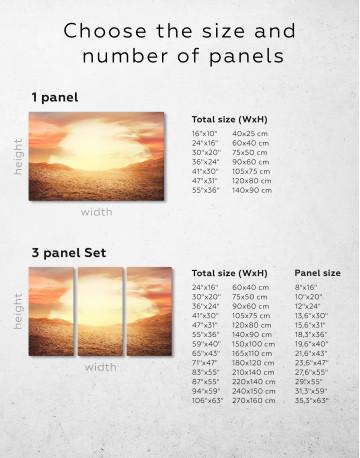 Desert Sun Canvas Wall Art - image 2