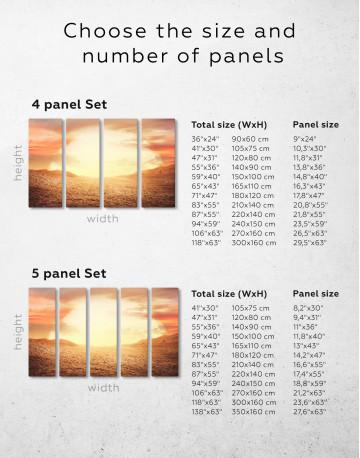 Desert Sun Canvas Wall Art - image 1