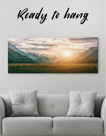 Panoramic Mountain Sunset Canvas Wall Art - image 2