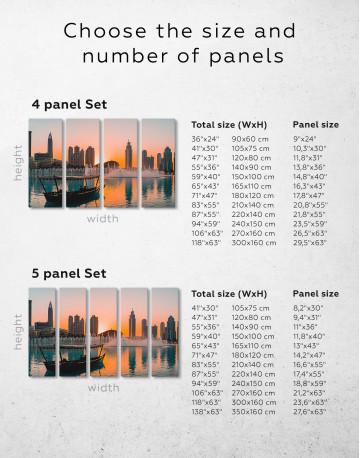 Sunset Dubai Fountain View Canvas Wall Art - image 2