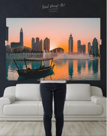 Sunset Dubai Fountain View Canvas Wall Art - image 8
