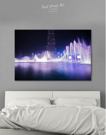 Dancing Water Fountain Dubai Canvas Wall Art