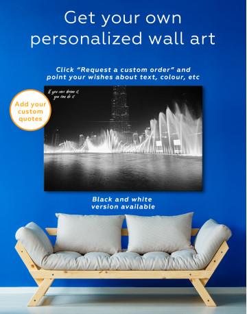 Dancing Water Fountain Dubai Canvas Wall Art - image 6