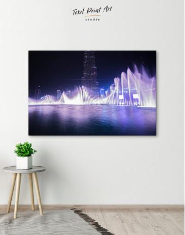 Dancing Water Fountain Dubai Canvas Wall Art - image 8