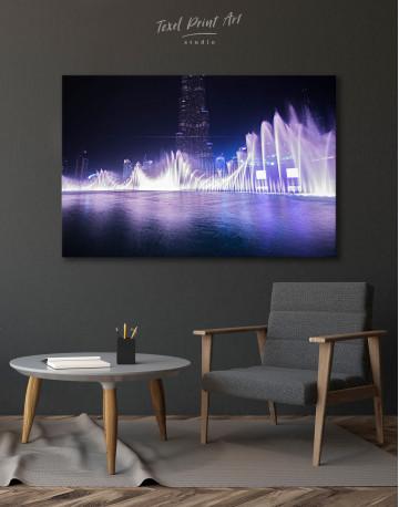 Dancing Water Fountain Dubai Canvas Wall Art - image 9