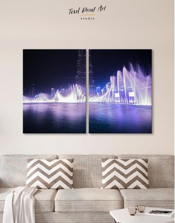 Dancing Water Fountain Dubai Canvas Wall Art - image 5