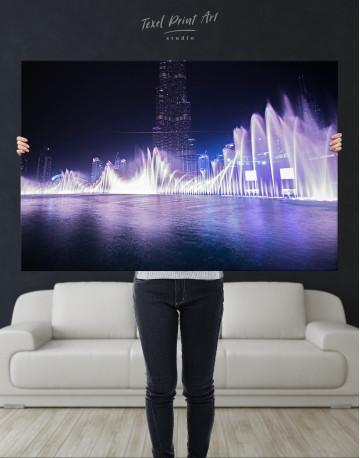 Dancing Water Fountain Dubai Canvas Wall Art - image 10