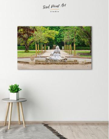 Buddha Fountain in Green Park Canvas Wall Art - image 2